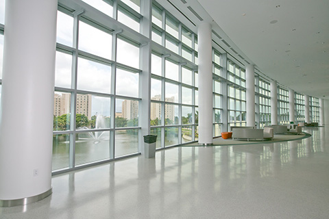 Inside the student center at University of Miami